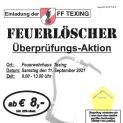 Feuerlöscher-Überprüfungsaktion im Feuerwehrhaus